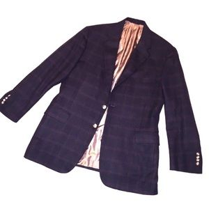 H Freeman Super Soft Wool Blazer - Midnight Blue